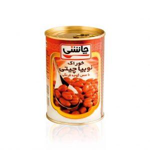 خوراک لوبیاچیتی با سس گوجه فرنگی